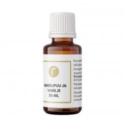 Sandalwood & Vanilla tuoksuöljy 30 ml