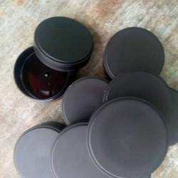 Musta muovipurkki 50 ml, 10...