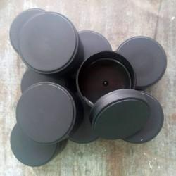 Musta muovipurkki 100 ml,...
